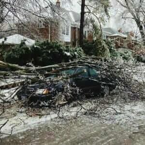 storm wind damage work